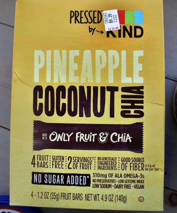 A close up of a bag of Pineapple Coconut Chia.