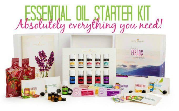 A variety of Young Living products.