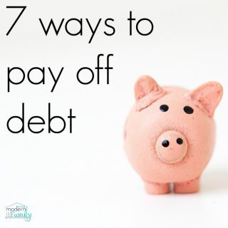7 Ways to Pay off Debt