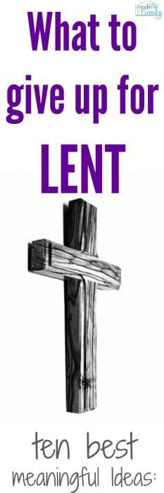 what to give up for Lent
