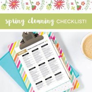 Spring Cleaning Checklist (printable)