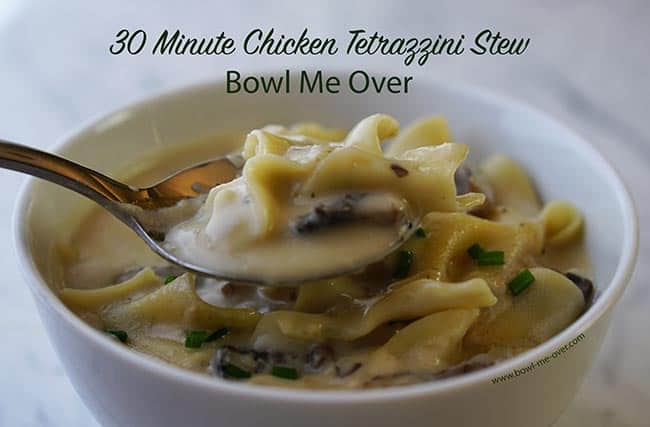 Grab a spoon you're definitely going to want a bowl of chicken Tetrazzini Stew!