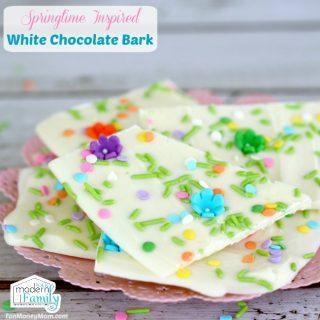 Easter White Chocolate Bark