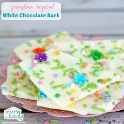 Springtime Inspired White Chocolate Bark Feature