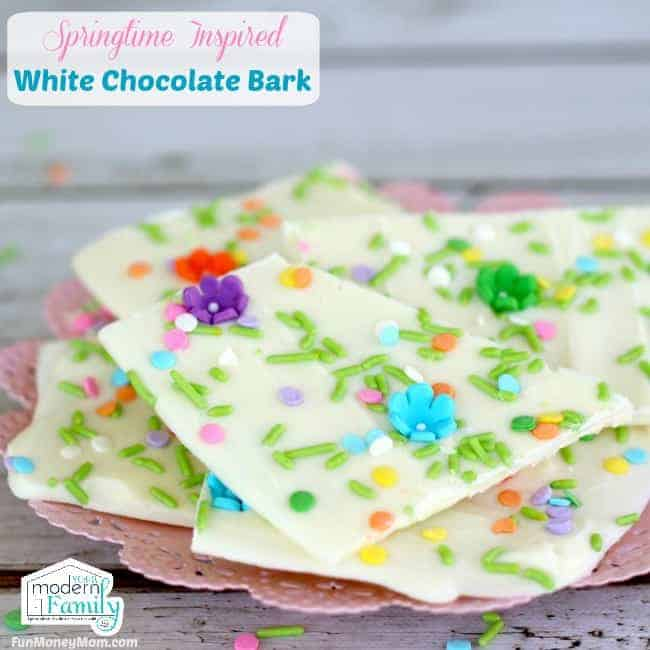 pin for easter white chocolate bark