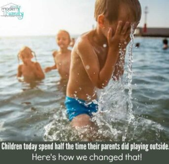 Children today spend half the time their parents did playing outside