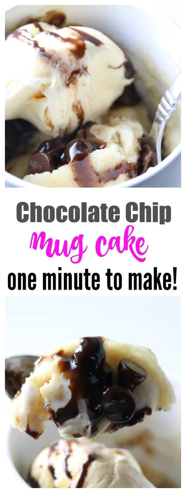 One Minute Chocolate Chip Mug Cake