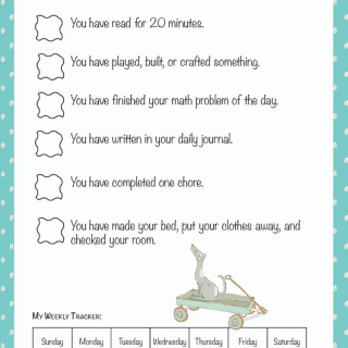 No Screen-time Until  (free printable)