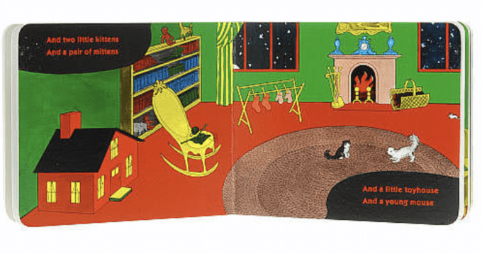 A page from the Goodnight Moon book.