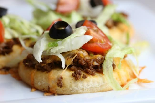 Mini Taco Pizza Recipe Your Modern Family