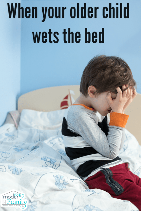 You see, our oldest son stopped wetting the bed when he was one, so to have  a child still wetting the bed years past potty training was new to me.