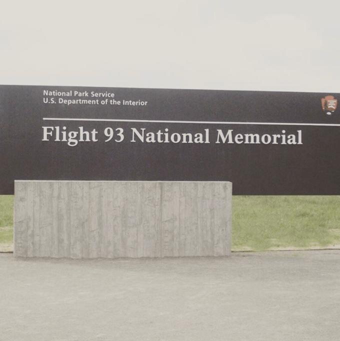 A close up of the Flight 93 National Memorial.