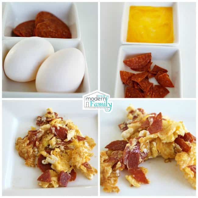 pepperoni & Eggs recipe