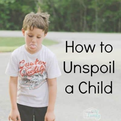 how to unspoil a child