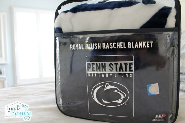 A close up of a blanket in it\'s packaging.