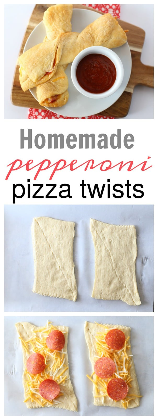 Homemade Pepperoni Pizza Twists