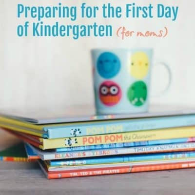 first day of Kindergarten (for mom)