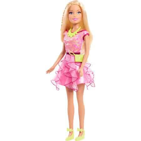 A Barbie Doll standing.