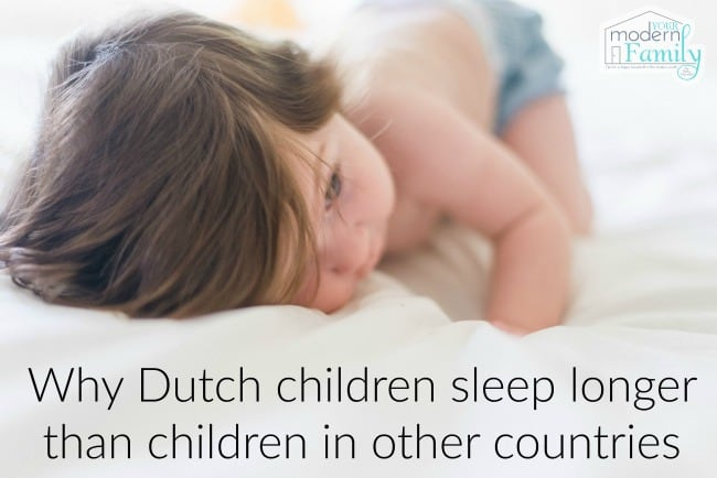 a baby  with words about how to help kids sleep