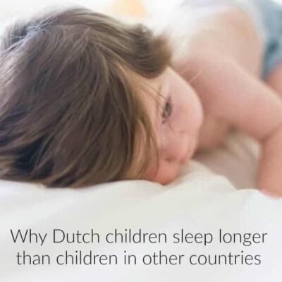 dutch children sleep longer than children in other countries