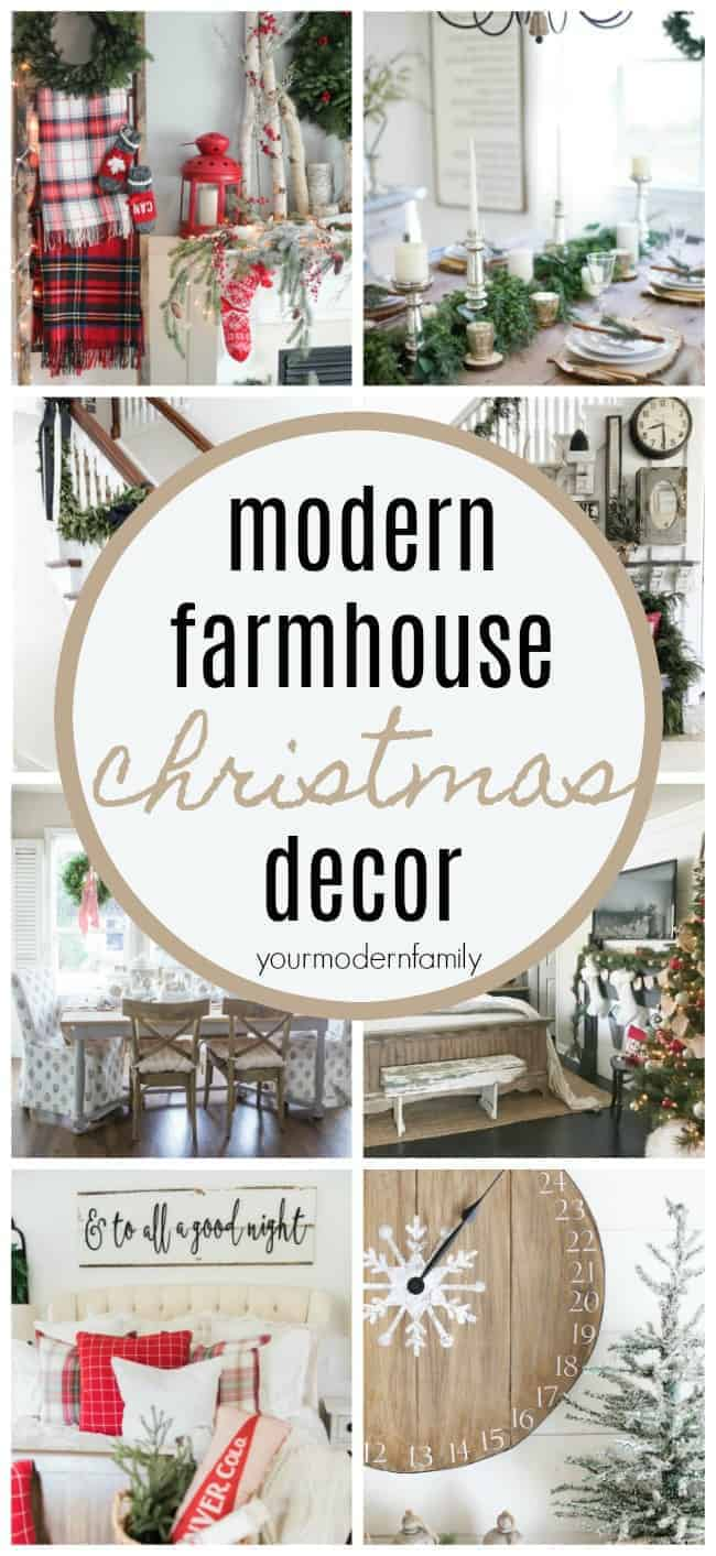 The BEST Modern Farmhouse Christmas Decor ideas! - Your Modern Family