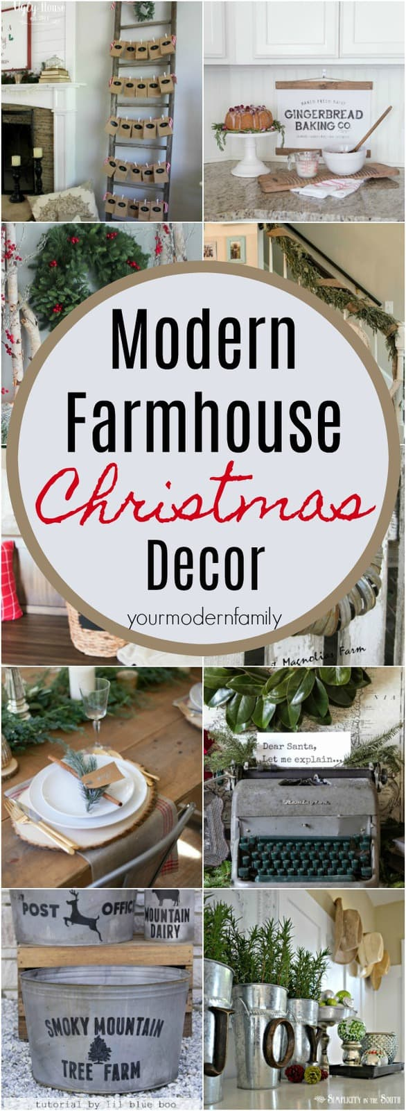 the best modern farmhouse christmas decor ideas - Farmhouse Christmas Tree Decorations