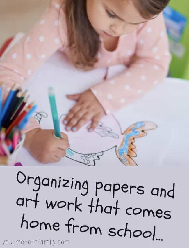 The Science Of Getting Kids Organized >> How I Organize Our Kid S School Work Projects Drawing Tests That
