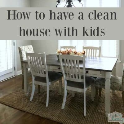 clean house with kids