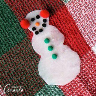 Make a Snowman from Glue