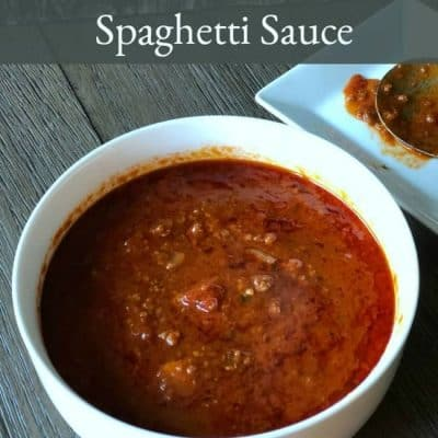 Great-Grandma's Home-Made Spaghetti Sauce