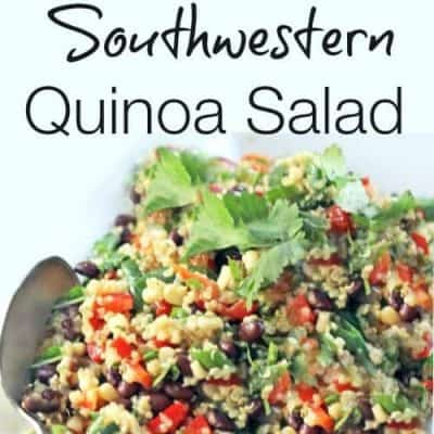 chilled southwestern quinoa salad
