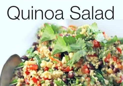 chilled southwestern quinoa salad