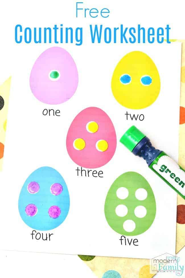 Easter Worksheets For Preschoolers Or Kindergarteners Math Counting