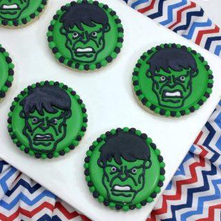 Hulk Sugar Cookies