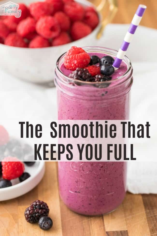 The smoothie that keeps you full longer