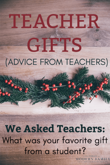 Text about gifts for teachers.