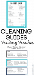 DAILY CLEANING LIST FOR BUSY FAMILIES