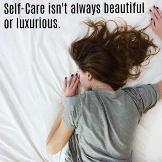 Self-Care isn't luxurious … with salt baths & chocolate cake
