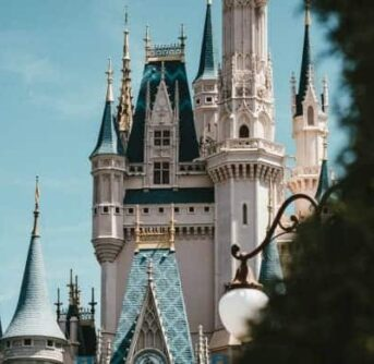 Cinderella's castle in Disney World.