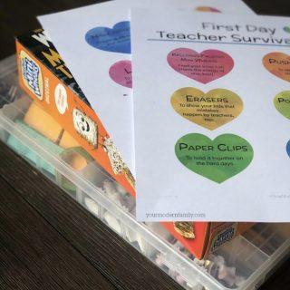DIY Teacher's Survival Kit (gift idea)
