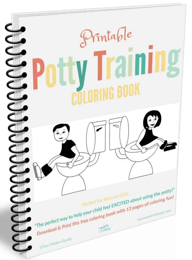 FREE Potty Training Coloring Book
