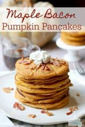 maple bacon pumpkin pancakes