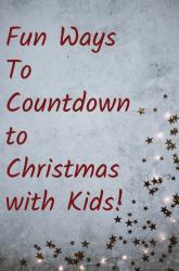 Countdown to Christmas Ideas