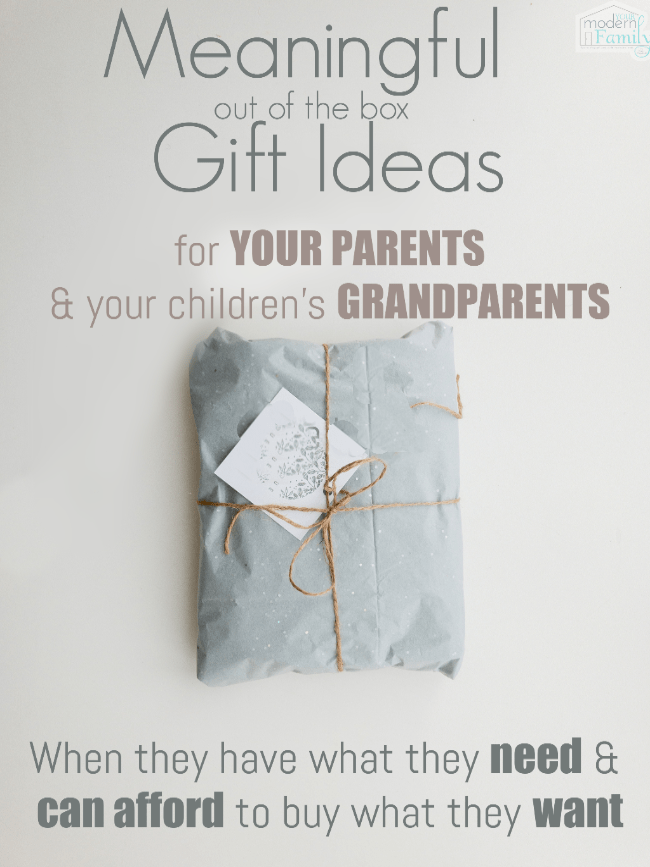 10 Meaningful gifts for YOUR PARENTS and kids grandparents