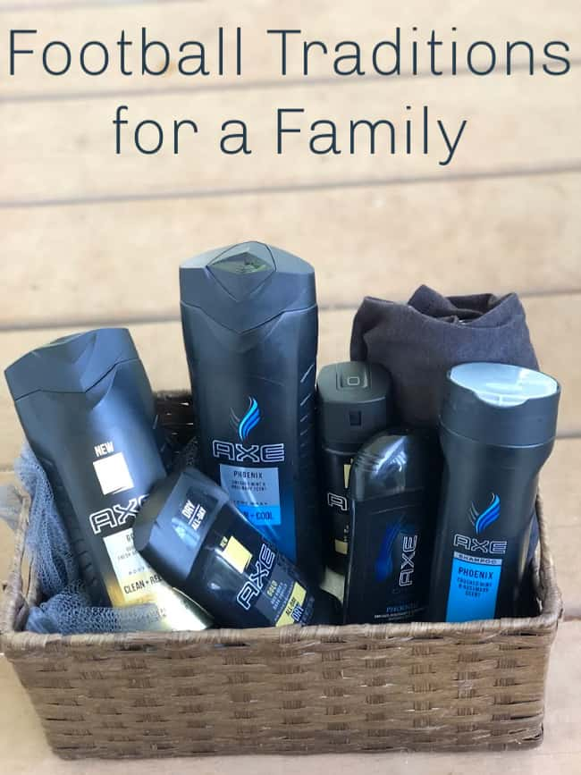 A variety of Axe Body products in a wicker basket.