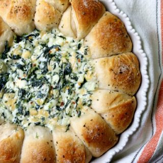 Baked Biscuit Wreath Dip Recipe 1
