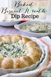 Baked Biscuit Wreath Dip Recipe - SO good! #Appetizer #Dinner #Sidedish