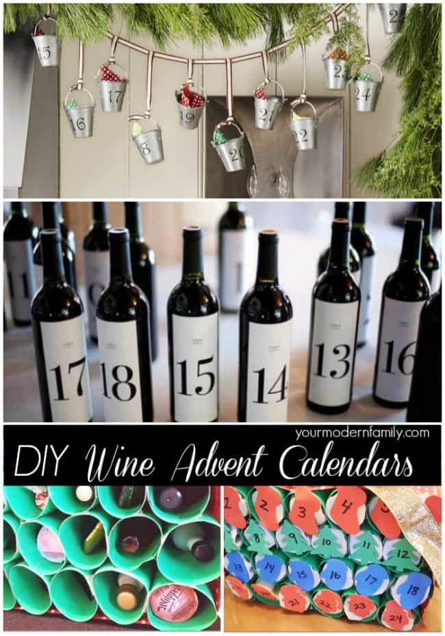 DIY Wine Advent Calendars 1