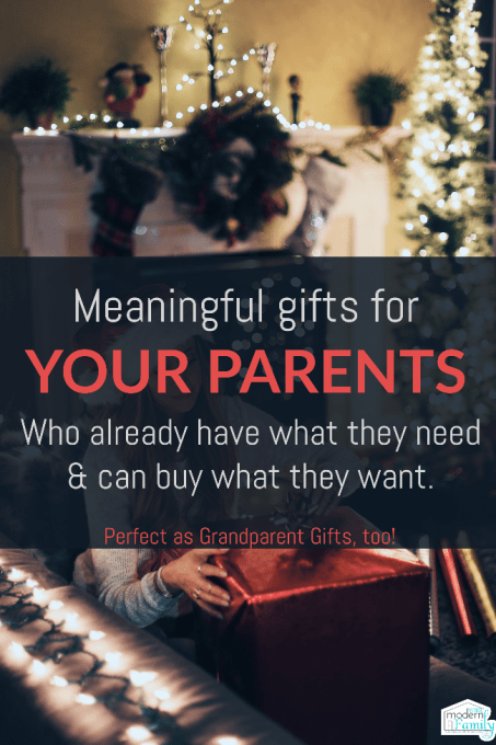 Gifts for parents - Meaningful Christmas gifts for parents and gifts for grandparents