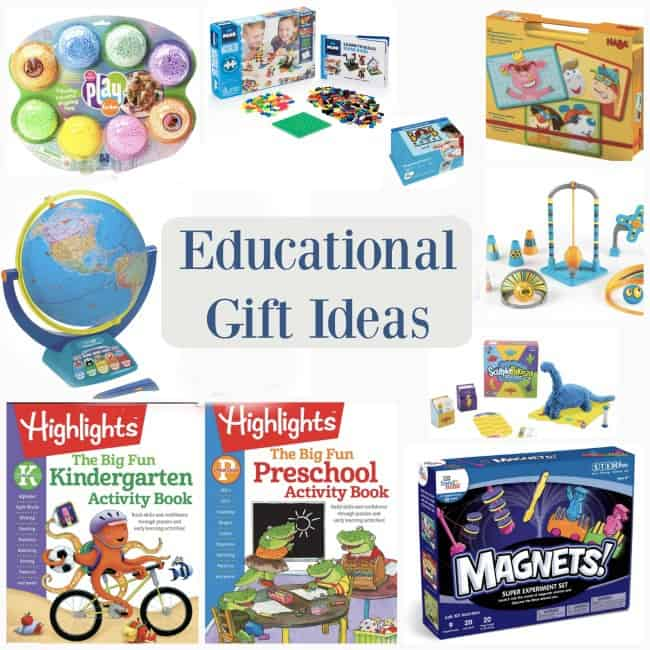 A text with a variety of educational  gift ideas.
